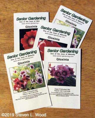 Gloxinia Seed Envelopes