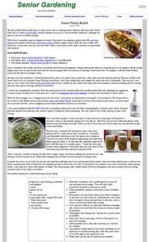 Pickle relish recipe