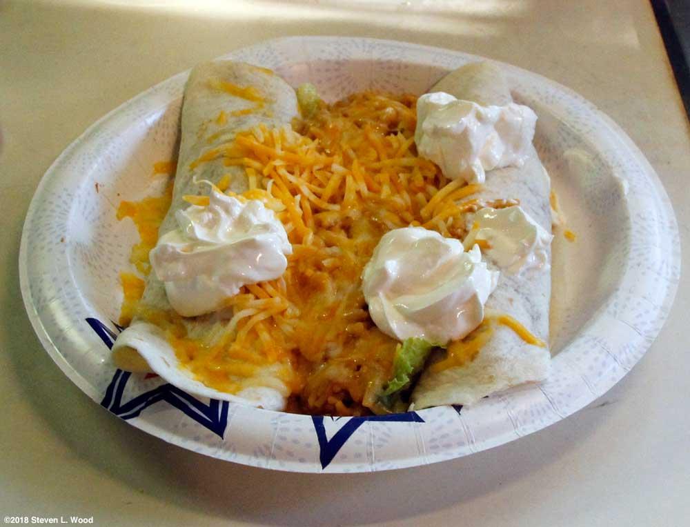 Burritos made with fresh refried beans